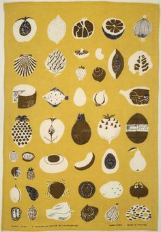 Good Food Glass Towel, (detail), ca. 1961-1962. Lucienne Day