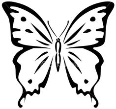 Butterfly (stencil) Royalty Free Stock Vector Art Illustration $