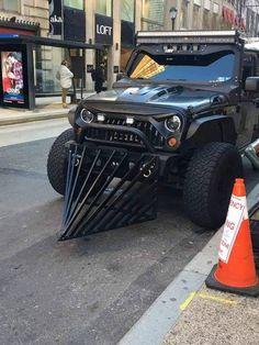 Jeep with metal front extension Jeep Jk, Jeep Dodge, Jeep Cars, Jeep Truck, Big Trucks, Pickup Trucks, Mazda, Mopar, Badass Jeep