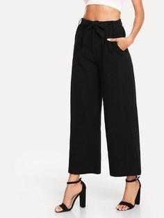 solid wide leg pants.  pants  bottoms  women  fashion Pantalones Anchos De ca07947e06e0
