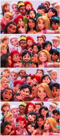 All disney princess from wreck-it ralph 2 trailer - Disney princess wallpaper - All Disney Princesses, Disney Princess Drawings, Disney Princess Art, Disney Princess Pictures, Disney Drawings, Disney Art, Disney Movies, Punk Disney, Drawing Disney