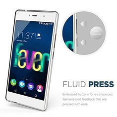 """nice Wiko Fever 4G Case , TUTUWEN Ultra Slim Crystal Clear Soft Silicone TPU Bumper Protective Back Cover for Wiko Fever 4G 5.2"""""""