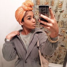 Never thought of leaving the Edges out Bad Hair Day, My Hair, Head Wrap Scarf, Head Scarfs, Scarves, Curly Hair Styles, Natural Hair Styles, African Head Wraps, Natural Hair Inspiration