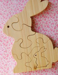 Mommy & Baby Bunny Chunky Puzzle