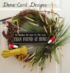 The Robyn Lake House Wreath by DanaCarolDesigns on Etsy, $68.00...cute for LAKE HOUSE...if I had one!