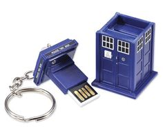 Keep your files safe with Doctor Who Tardis 8GB USB Drive Key Chain #doctorwho
