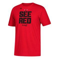 aa79f6b823c Chicago Bulls adidas 2017 NBA Playoffs Participant Slogan T-Shirt - Red