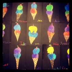 thiebaud ice cream with value, first grade