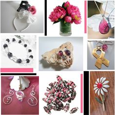 pink beauties by omearascottagecharm on Polyvore featuring vintage and etsyfru