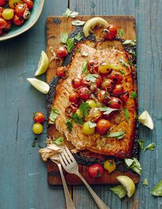 Cedar-Planked Salmon With Herbed Yogurt Sauce Recipes — Dishmaps