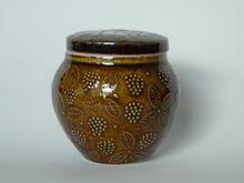 Arabia, Finland, Chymos Oy, hillopurkki, designed by Ulla Procopé. Kitchenware, Tableware, Jam Jar, Scandinavian Style, Finland, Tea Cups, Nostalgia, Enamel, Porcelain
