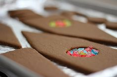 gingerbread houses.... make stained glass windows using crushed jolly ranchers