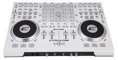 Epsilon 4 Deck USB professional MIDI DJ controller (white)