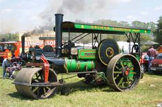 Vintage transport - Steam Roller at Woodcote Rally, South Oxfordshire, UK. Annual Weekend event in July.