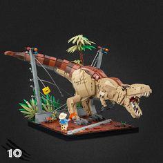 Lego Jurassic Park, Robot Animal, Lego Animals, Legos, Casa Lego, Jurrassic Park, Lego Dragon, Lego Sculptures, Lego Bedroom