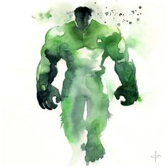 Watercolor Superheroes