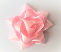 Three tiered star bow Material: Satin Choose your back: * French Barrette Clip * Elastic Head Band - made to measure * Brooch Clip * Nothing (great for adding the finishing touch to the perfect gift). Barrette Clip, Pink Stars, Bows, Gifts, Ticks, Arches, Presents, Bowties, Favors