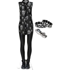 Skulls <3 by bvb3666 on Polyvore featuring Topshop, women's clothing, women's fashion, women, female, woman, misses and juniors