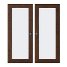 BORGSJÖ Glass door IKEA Doors with integrated damper for silent and soft closing. Adjustable hinges; adjust vertically and horizontally.