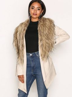 Suedette Fallaway Jacket Latest Fashion, Womens Fashion, River Island, Fur Coat, Fashion Outfits, Shopping, Clothes, Clothing Styles, Tall Clothing