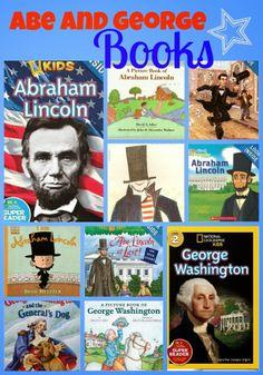 Abraham Lincoln and George Washington books