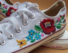 Custom Converse Kalocsai Sneakers by KalocsaArtStore on Etsy