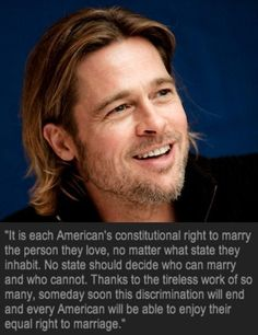 Brad Pitt On Gay Marriage