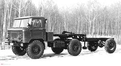 Full driven train wth #GAZ-66 with driven semitrailer #SU