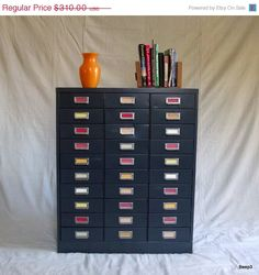 ON SALE Vintage Industrial Steelmaster Metal Drawer Cabinet. $263.50, via Etsy.