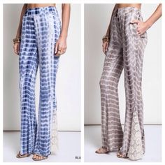 Bundle for Michelle Tie dye bell bottoms with pace detail. Hooded casual stripped dress Pants Wide Leg