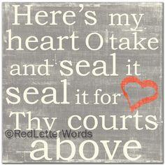 redletterwords - Take My Heart, $49.00 (http://www.redletterwords.com/take-my-heart/)