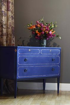 Chalk Paint™ decorative paint by Annie Sloan, Napoleonic Blue!