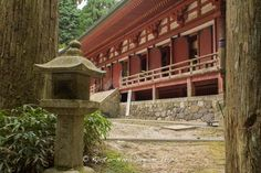 """Another view of the Shaka-do (釈迦堂), part of the Sai-tō (西塔, """"West Pagoda"""") complex of Enryaku-ji Temple (延暦寺) on Mt.Hiei zan (比叡山) in Ōtsu, Japan. Its former name was """"Tenbo Rin-do"""" (転法輪堂) and it is the oldest building on the mountain."""