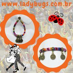 Novas bijuterias com um toque étnico na Ladybug's! Maxi Brinco Étnico Rosa e  Pulseira Étnica Moedas arrasando aqui na loja! www.ladybugs.com.br