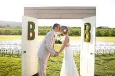 not doors, but someway to mark entrance to ceremony area?