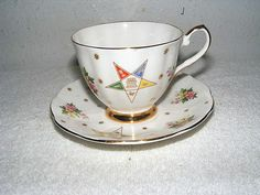 Order of the Eastern Star Elizabethan Taylor  Kent Fine Bone China Cup  Saucer
