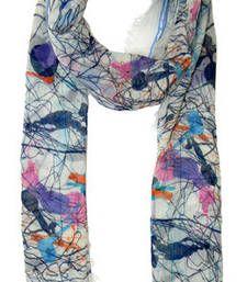 Buy SPRUSH PRINT MULTICOLOUR COTTON SCARF scarf online