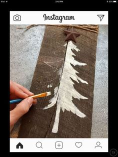 Outstanding Christmas deco detail are offered on our site. look at this and you wont be sorry you did. Christmas Wood Crafts, Christmas Tree Painting, Primitive Christmas, Christmas Signs, Rustic Christmas, Christmas Art, Christmas Projects, Winter Christmas, Holiday Crafts