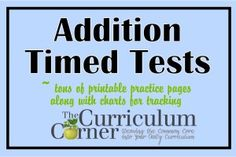 We were always searching for timed math fact tests for our classrooms and that we could use across grade levels.  Here are some FREE printable math fact pages.  Addition and multiplication are currently posted on this site, but subtraction will be up soon and division to follow.  Three sets each of 1s, 2s, 3s, etc. PLUS mixed review for 0s - 5s and 6s - 9s!