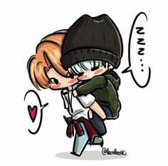 Amo los fan arts del yoonmin son tan tiernos*-* I love it