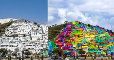 In a fantastic attempt at urban renewal, the government of Mexico recently collaborated with a group of local street artists called Germen Crew to paint a 20,000 square meter mural across the facades of 209 homes in the district of Palmitas in Pachuca, Mexico. The project was intended to bring a
