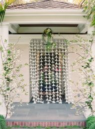 Lily gardlands.   Art Nouveau Inspiration + DIY from Oak and the Owl | Style Me Pretty