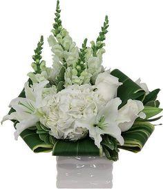 funeral flower arrangements   Solace White Sympathy Flowers   Canada Flowers:
