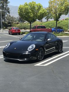 Black Porsche 911 Carrera T