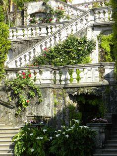 Staircase at Villa Carlotta, Tremezzo, Lake Como, Lombardy, Italy