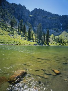 High Creek Lake and Bear River Range, Mount Naomi Wilderness, Wasatch-Cache National Forest, Utah