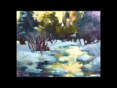 Winter Landscape Pastels by Karen Margulis