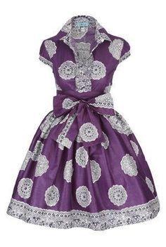 Image of Fusion Purple Shirt Dress - African print/sari design? African Print Dresses, African Fashion Dresses, African Dress, African Prints, African Attire, African Wear, African Women, African Shop, African Kids