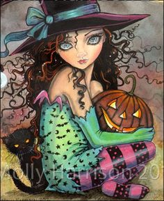 Art by Molly Harrison on EBSQ. halloweenhillcloseup