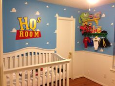 "As Walt Disney said,""adults are just kids grown up"" pixar themed nursery"